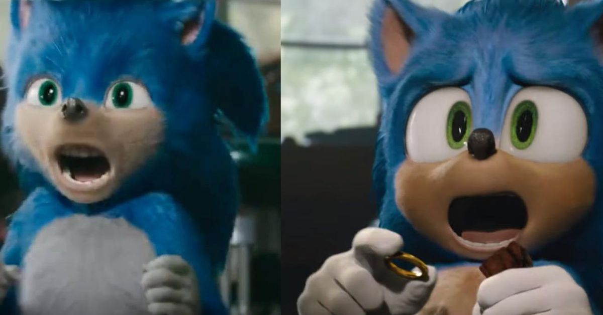 Sonic old vs. new design